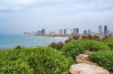 Tel-Aviv strand panorama Jaffa Israël Stockfoto - 13550158