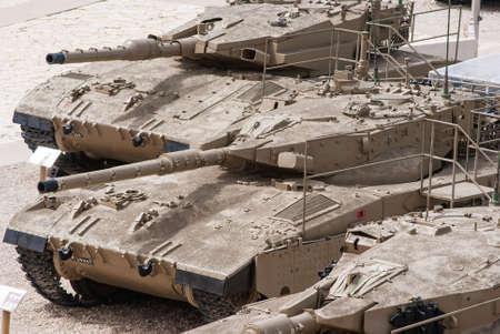 Israeli Merkava Mark IV tank  in Latrun Armored Corps museum, Israel photo