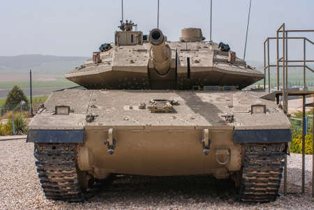 Israeli Merkava Mark IV tank  in Latrun Armored Corps museum, Israel photo
