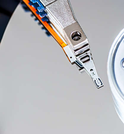 hard disk drive detail photo