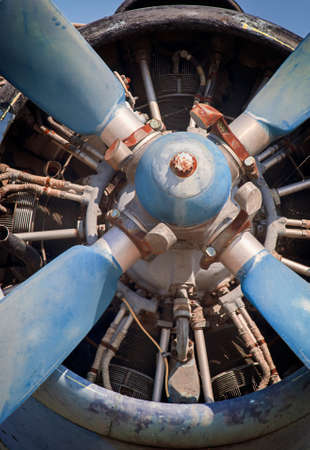 old piston engine and propeller aircraft photo