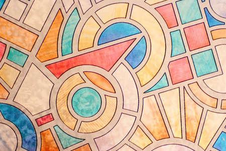 Gebrandschilderd glas, abstracte achtergrond