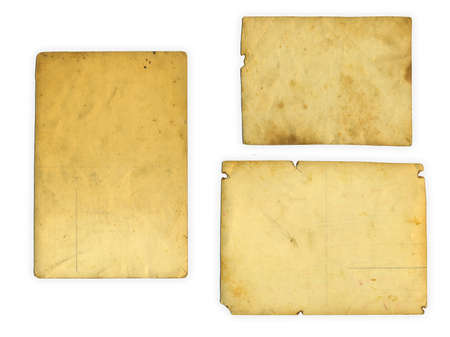 collection of various old photos on white background Stock Photo - 17320129