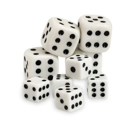 Gambling dices isolated on white background Stock Photo - 17629770