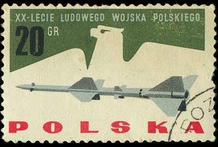POLAND - CIRCA 1965  A stamp printed in Poland shows the army of polish, circa 1965
