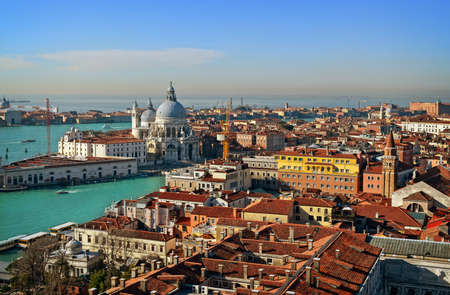 view of Venice rooftops from above, Italy photo