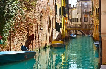 Mooie Water Street - Canal Grande in Veneti Stockfoto - 18555166