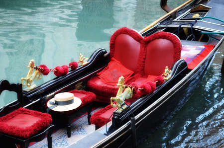 Venetian typical boat - gondola, Italy Stock Photo