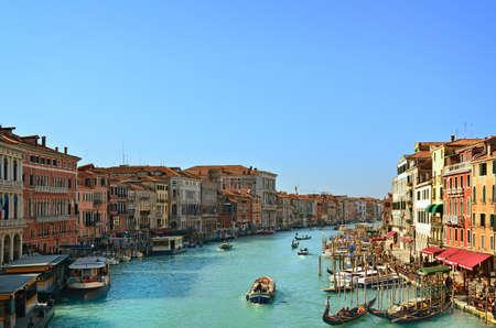 Güzel su sokak - Venedik, İtalya Grand Canal