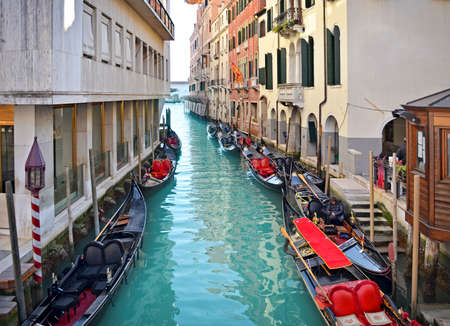 Beautiful water street - Venice, Italy, Europe  photo
