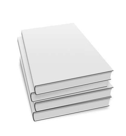 collection of various blank white books on white background with clipping path Stock Photo - 19113940