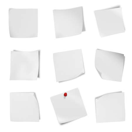 z fold: collection of various leaflet blank whitcollection of various leaflet blank white paper on white background  each one is shot separately e paper on white background  each one is shot separately Stock Photo