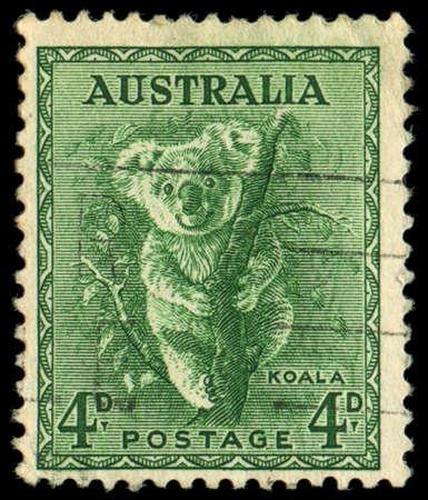 AUSTRALIA - CIRCA 1937: stamp printed by Australia, shows koala, circa 1937