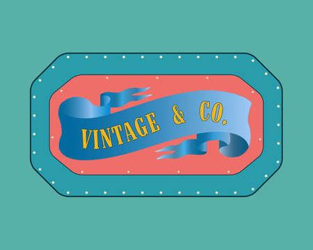 Retro style  badge, vintage collection. Vintage &Co Illustration