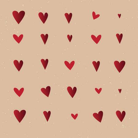 mishmash: Seamless vintage heart pattern
