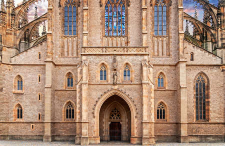 St. Barbara gothic cathedral in Kutna Hora, Bohemia photo
