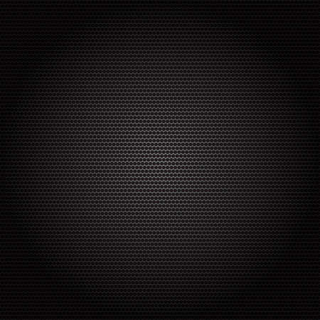 ebon: Texture metal surface dotted perforated black background Stock Photo