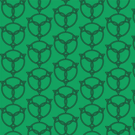 Celtic seamless pattern. Colored with green. Pattern can be used for wallpapers, backgrounds, web pages, in textile industry, invitation cards.
