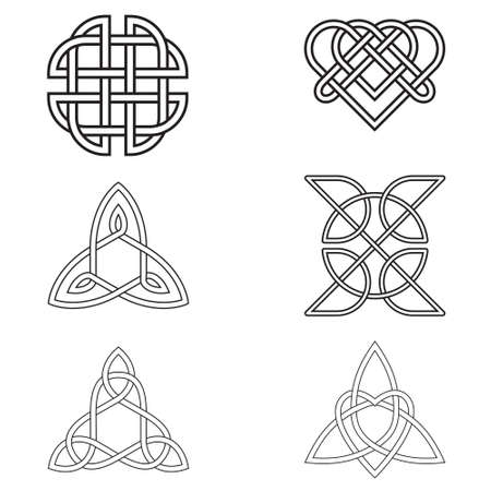 triquetra: Black Celtic Endless Knot  isolated on white background