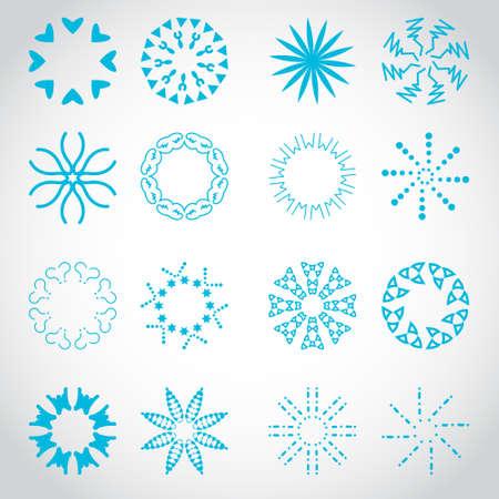 Sun'ın Rays Icons Set - Senin Tasarım İçin Düzenlenebilir Vektör Illustration, Grafik Tasarım, - Gri Arka Plan On İzole