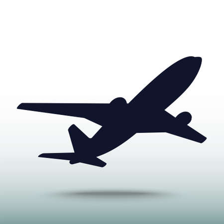 Airplane icon, vector illustration. Flat design style