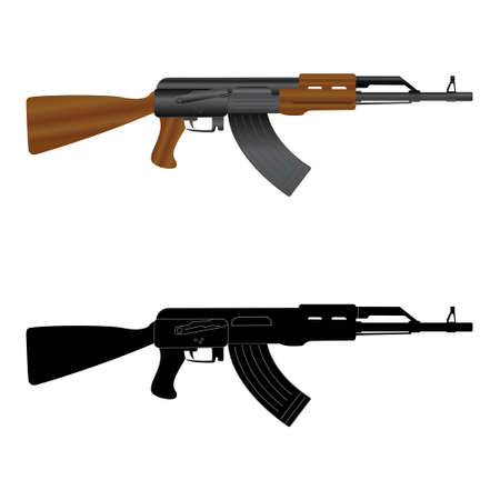 assault: Assault rifle  Kalashnikov  AK-47 Illustration