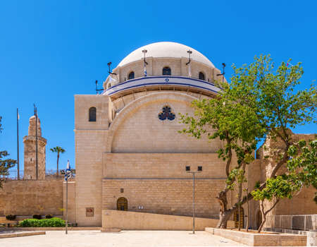 restored: Restored Synagogue in Jerusalem. Israel