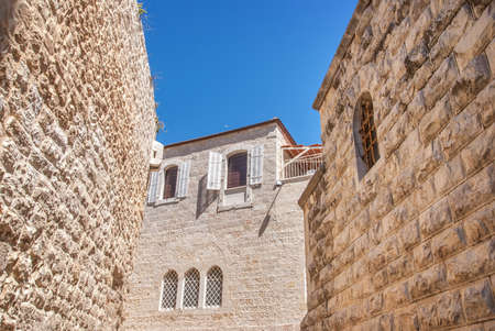 jewish houses: Ancient houses in Jewish Quarter, Jerusalem. Israel