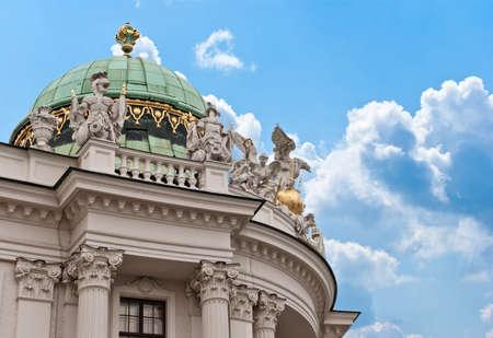hackney carriage: Vienna, Austria. Hofburg Palace seen from Michaelerplatz,  Habsburg Empire landmark in Vienn