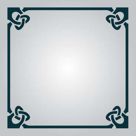celtic: Elegant celtic blank frame for your design