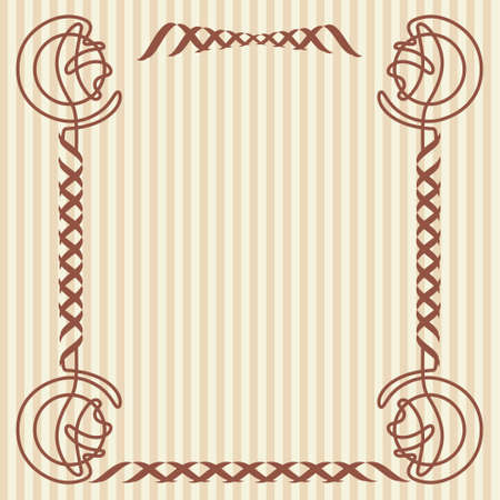 architectural styles: Square decorative frame in the art Nouveau style