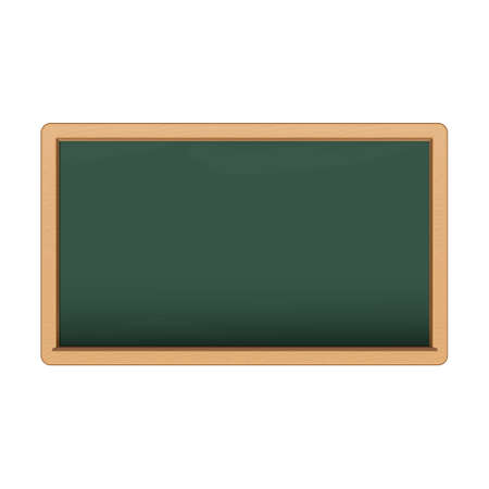 Green chalkboard on white background. Illustration