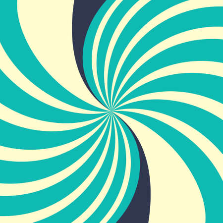 Swirling radial yellow blue abstract background.