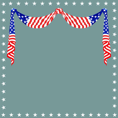 American flag background for Independence Day and other events. illustration. Illustration