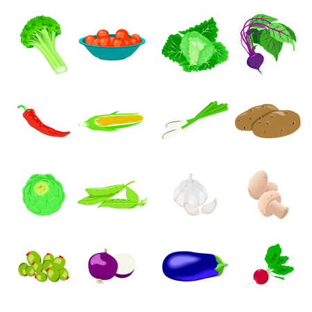 icons: Vegetables icons Illustration