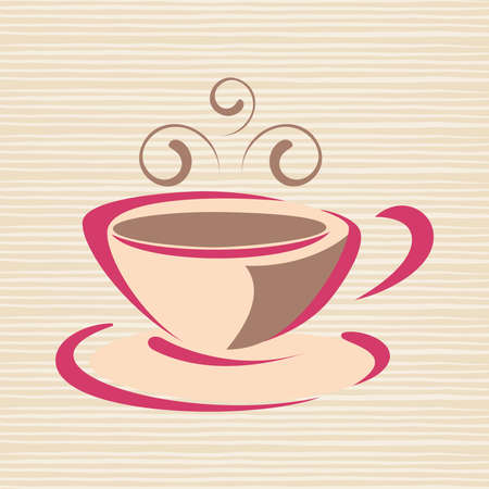Cup of hot drink. Coffee, tea etc Illustration