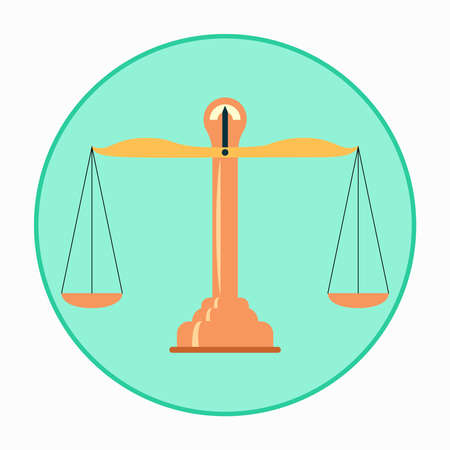 unequal: Balance Scales icon. Vector illustration, isolated from background
