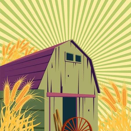 rural scene: Farm rural scene