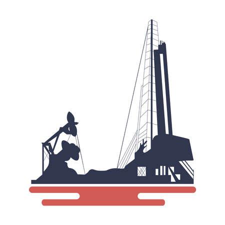 Oil platform icon Illustration