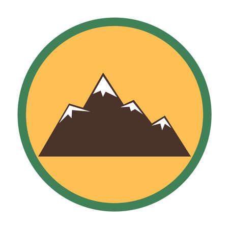 ridge: Mountain peaks with snow Illustration