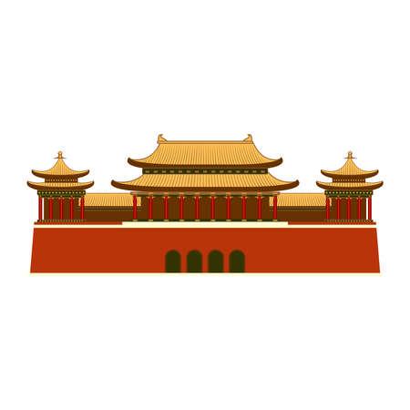 Icône du bâtiment est-asiatique.