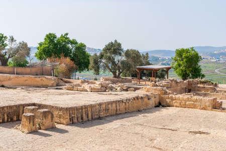 Tomb of the Prophet Samuel, near Jerusalem in Judea Desert,