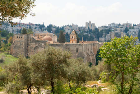 Monastery of the Cross in the Valley of the Cross in Jerusalem Stock Photo
