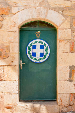 Door in the Monastery of the Cross in the Valley of the Cross in Jerusalem