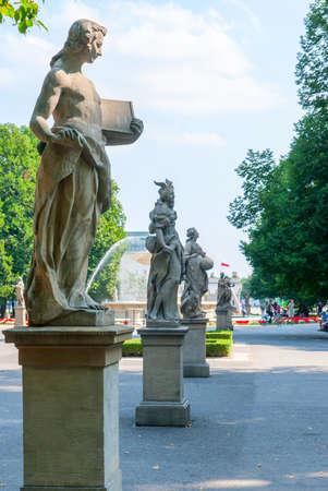 Statue in the Saxon Garden in Warsaw