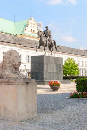 Joseph Poniatowski monument. Poland. Warsaw