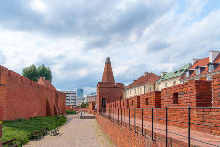 Medieval fortress in the center of Warsaw.
