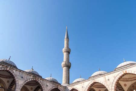 Minaret of Blue Mosque, Sultanahmet Camii , Istanbul