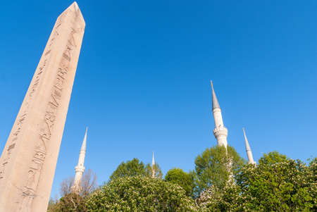 Minaret of Blue Mosque and Egyptian Column, Istanbul