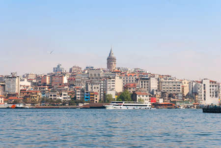 Galata tower on top, view from the Golden Horn.